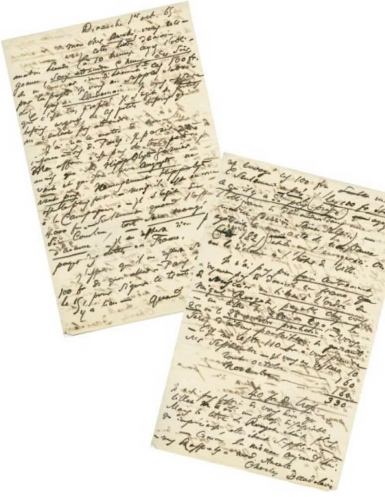 Baudelaire aan Narcisse Ancelle Brussel, zondag 1 oktober 1865.  Vertalingen Vivienne Stringa
