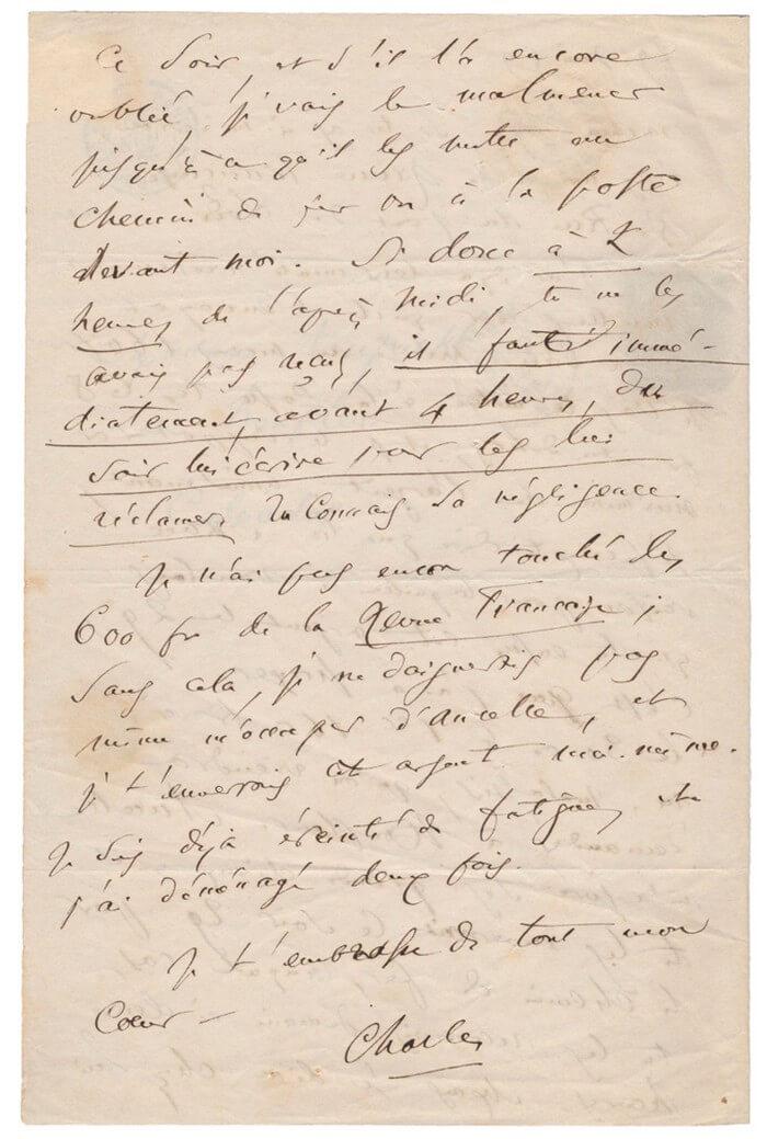 Baudelaire aan Mme Aupick. Parijs, 29 juni 1859.  Vertalingen Vivienne Stringa