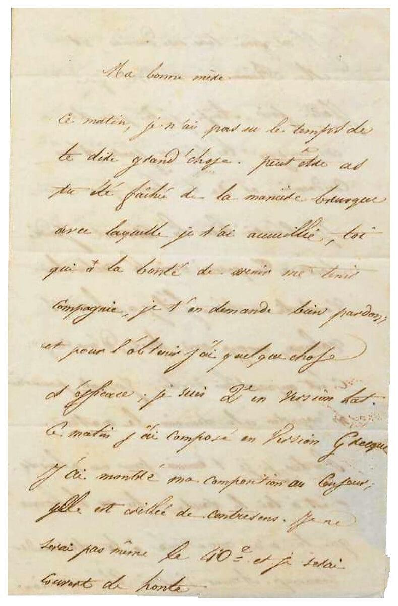 Baudelaire aan Mme Aupick, Parijs, 5 december 1837. Vertalingen Vivienne Stringa