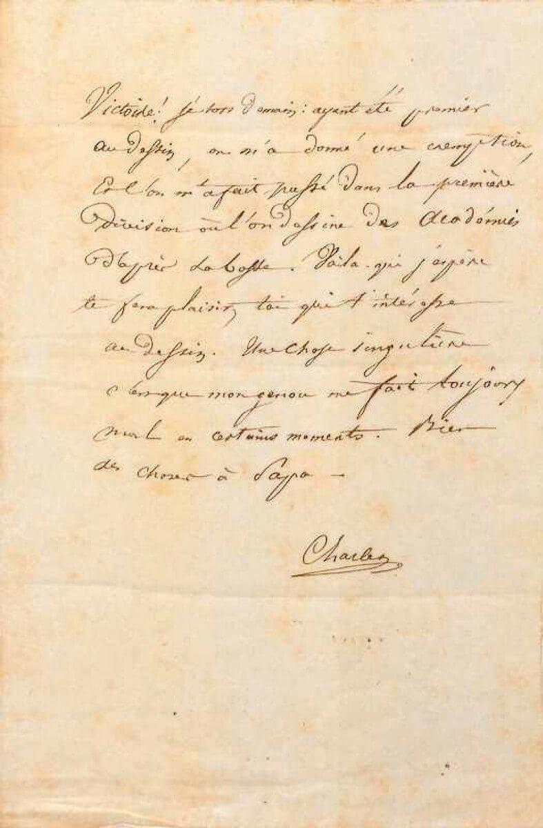 Baudelaire aan Madame Aupick, Parijs, januari 1838.  Vertalingen Vivienne Stringa