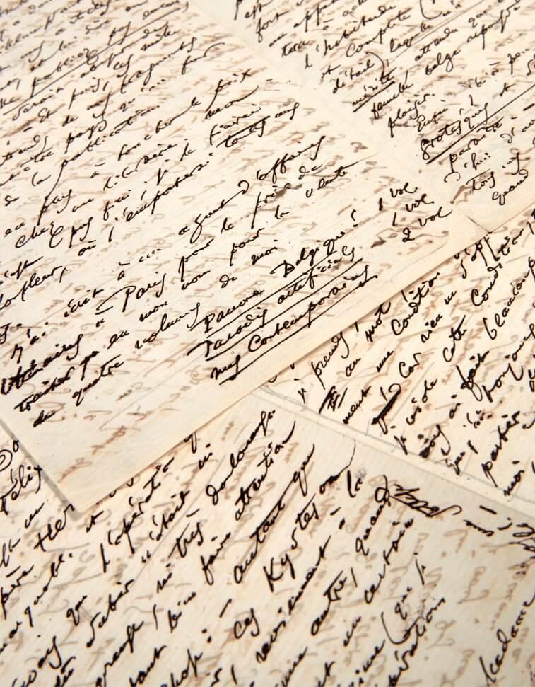 vertalingen Charles Baudelaire, Brief aan Narcisse Ancelle.Charles Baudelaire, Brussel, donderdag 13 oktober 1864.De brief is ondertekend met C.B., 12 pagina´s in-8. Vertalingen Vivienne Stringa.