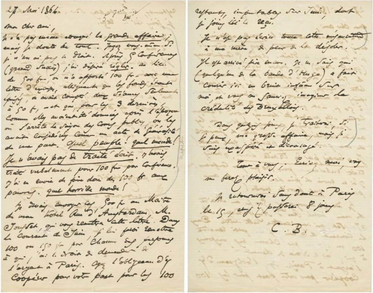 Baudelaire Brussel, 27 mei 1864. Vertalingen Vivienne Stringa