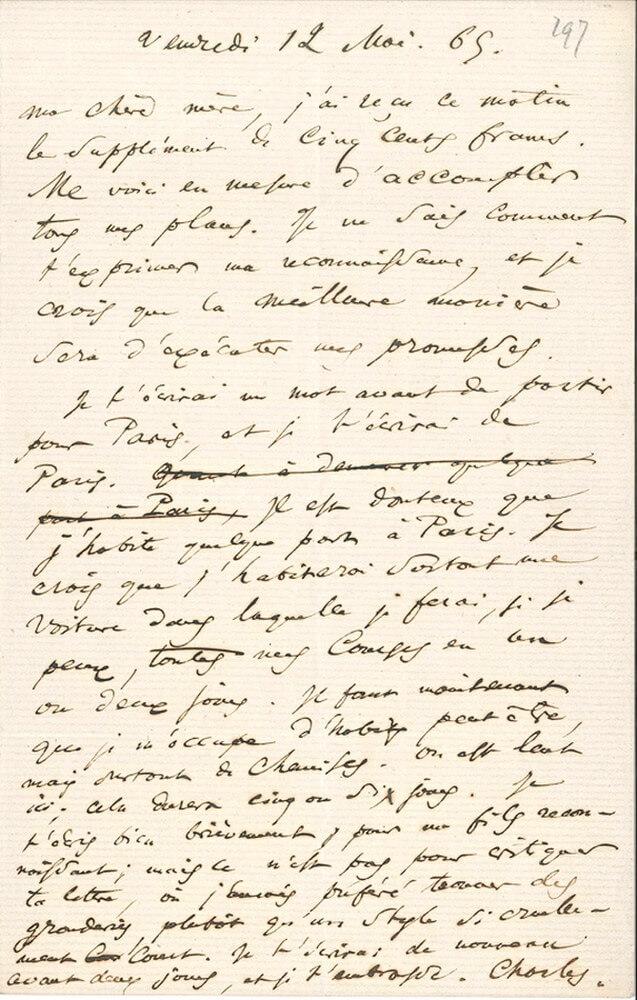Charles Baudelaire:  België. Aan Madame Aupick, 12 mei 1865. Vertalingen Vivienne Stringa