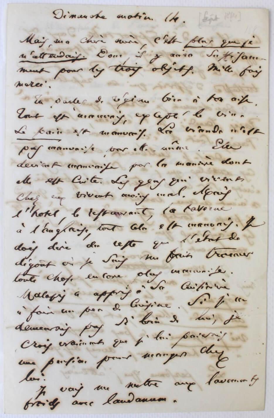 Baudelaire, correspondentie Brussel, België. Aan Madame Aupick, 14, 22 augustus 1864.Vertalingen Vivienne Stringa