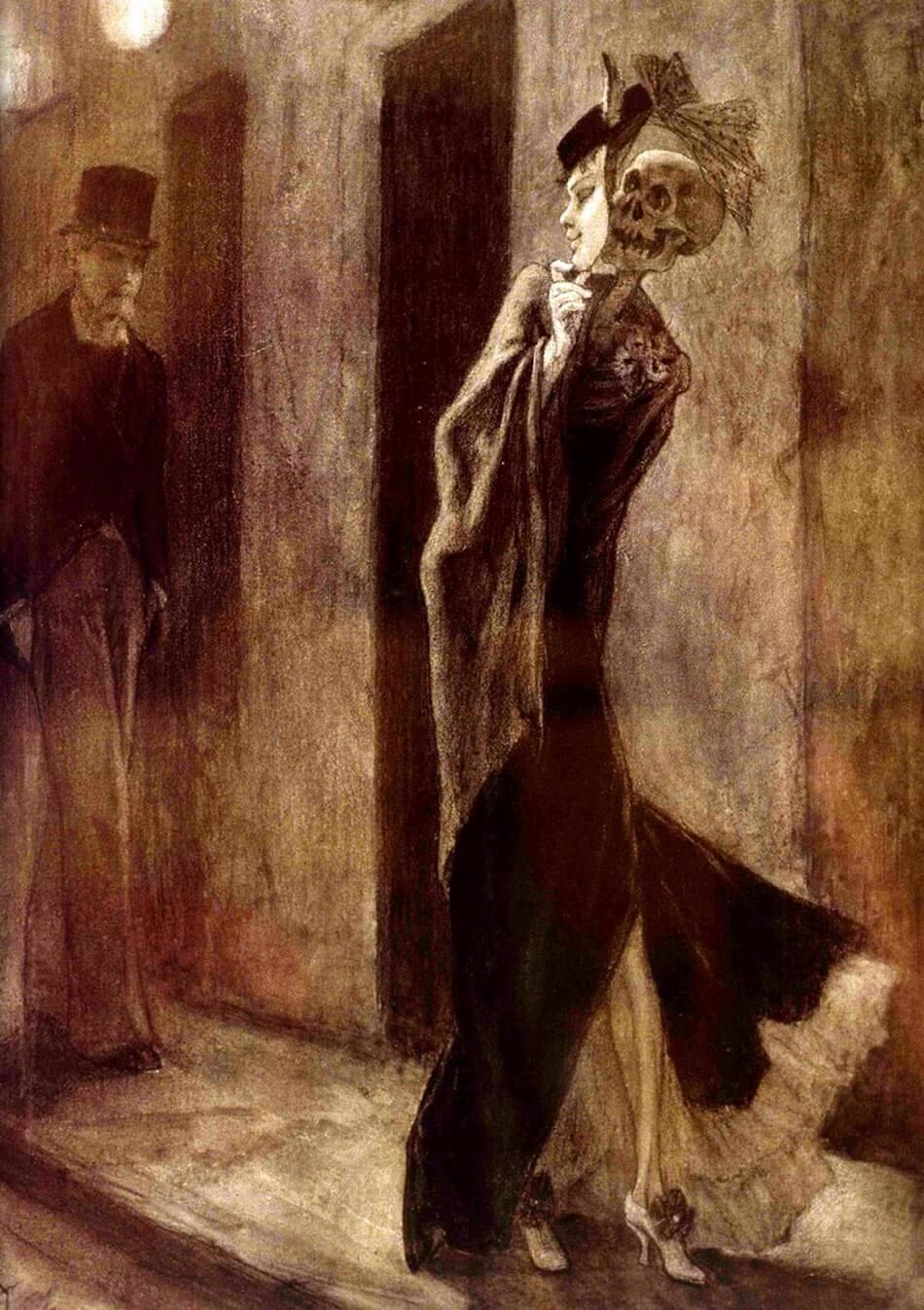 Charles Baudelaire, Brussel, La parodie humaine (1878) Musée provincial de Namur Félicien Rops (1833-1898). Franse literaire teksten Vertalingen Vivienne Stringa.