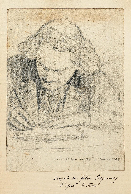 Félix Régamey, 1844-1907. Le Café de Bade. 32, boulevard des Italiens.  correspondentie Vertaling Charles Baudelaire, Vertalingen Vivienne Stringa.