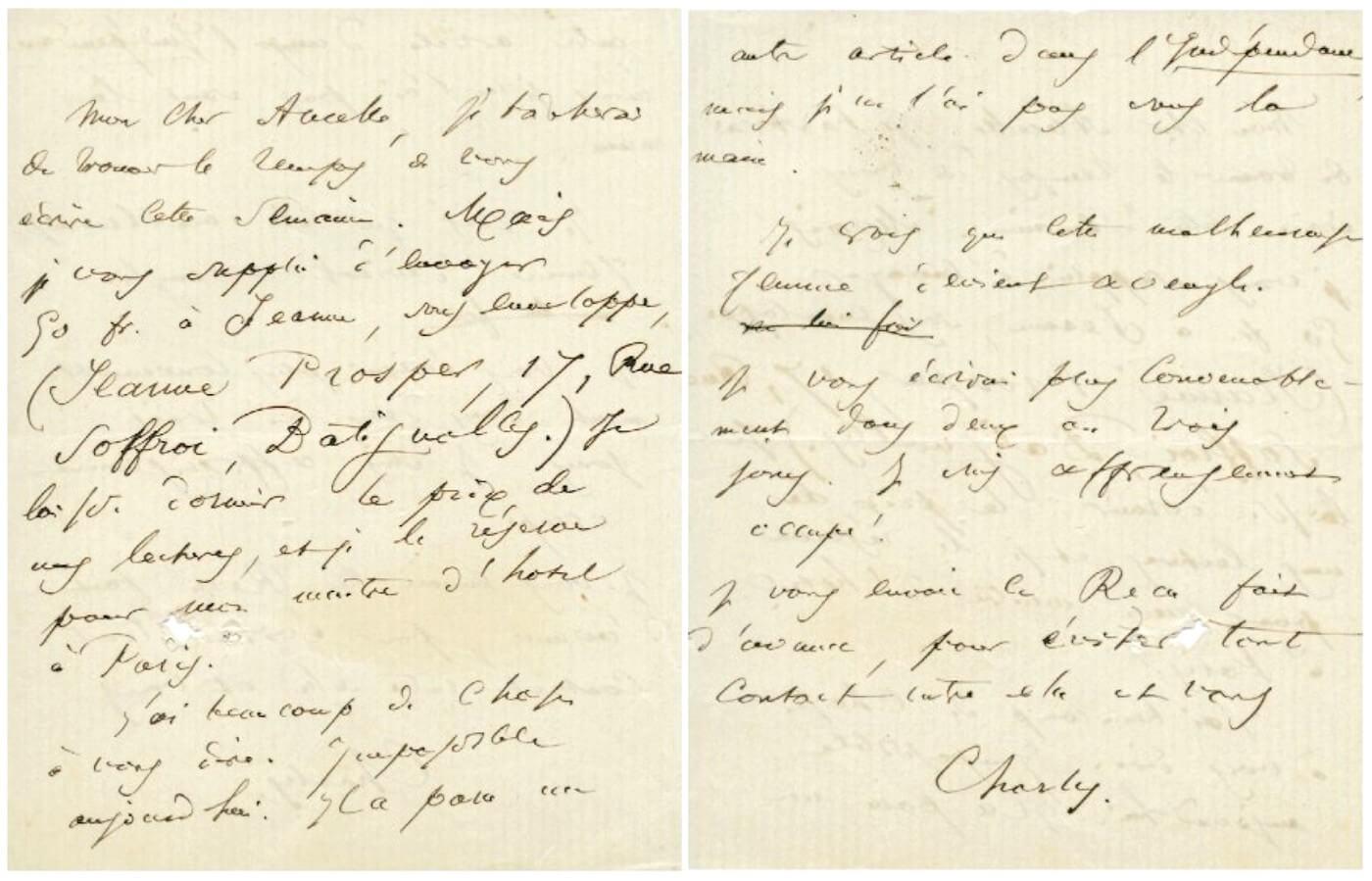 Baudelaire aan Narcisse Ancelle, ongeveer 10 mei 1864.  Vertalingen Vivienne Stringa