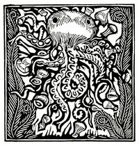 Guillaume Apollinaire,Le Bestiaire, De inktvis. De gedichten uit le Bestiaire, het Bestiarium, zijn geïllustreerd met houtgravures van Raoul Dufy, Vertalingen, Vivienne Stringa