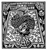Guillaume Apollinaire,Le Bestiaire, De karper. De gedichten uit le Bestiaire, het Bestiarium, zijn geïllustreerd met houtgravures van Raoul Dufy, Vertalingen, Vivienne Stringa
