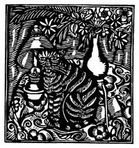 Guillaume Apollinaire,Le Bestiaire, De kat. De gedichten uit le Bestiaire, het Bestiarium, zijn geïllustreerd met houtgravures van Raoul Dufy, Vertalingen, Vivienne Stringa