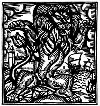 Guillaume Apollinaire,Le Bestiaire, De leeuw. De gedichten uit le Bestiaire, het Bestiarium, zijn geïllustreerd met houtgravures van Raoul Dufy, Vertalingen, Vivienne Stringa