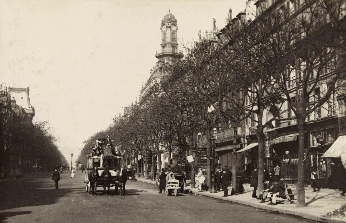 Parijs, Boulevard des Italiens, 1887/1889.  correspondentie Vertaling Charles Baudelaire, Vertalingen Vivienne Stringa.
