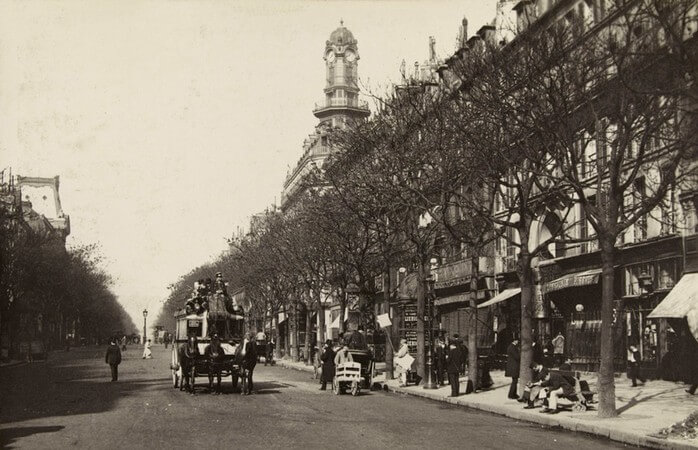 Parijs, Boulevard des Italiens, 1887/1889. Vertaling Charles Baudelaire, Vertalingen Vivienne Stringa.