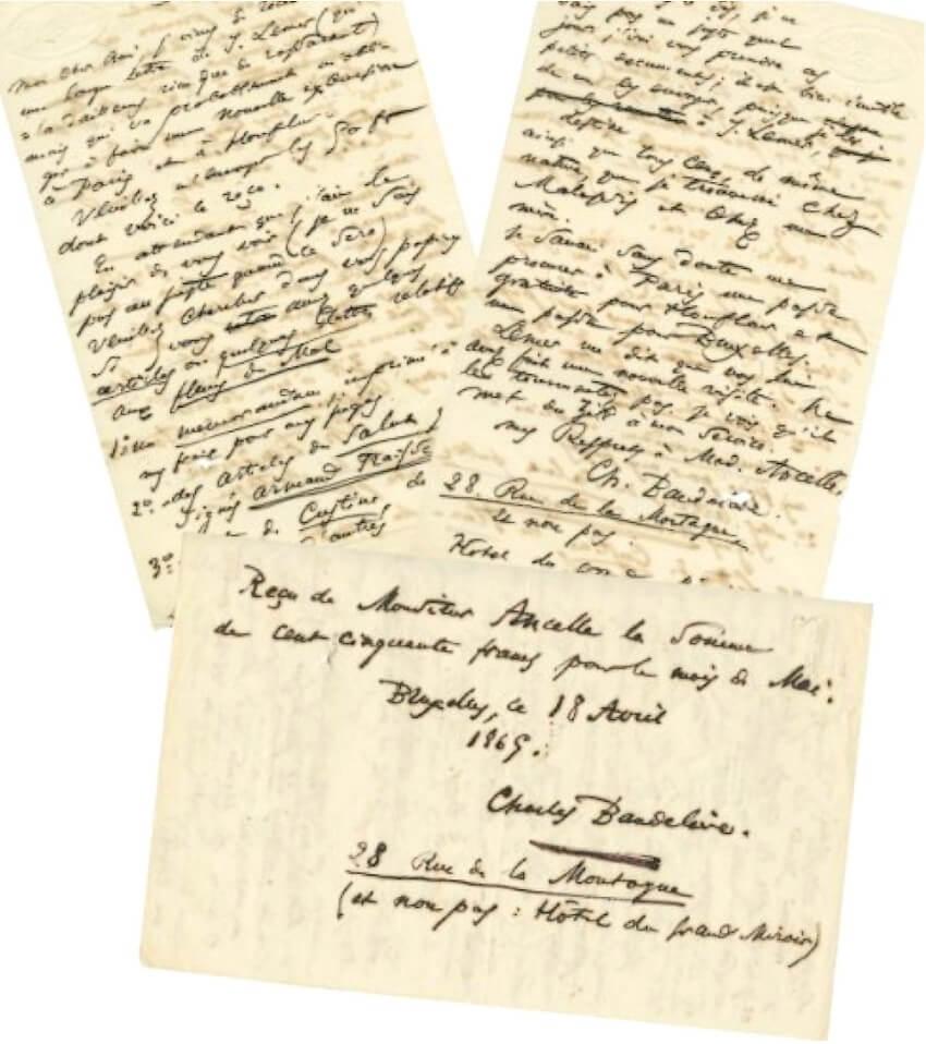 Baudelaire aan Narcisse Ancelle. Brussel, 9 augustus 1865. Vertalingen Vivienne Stringa