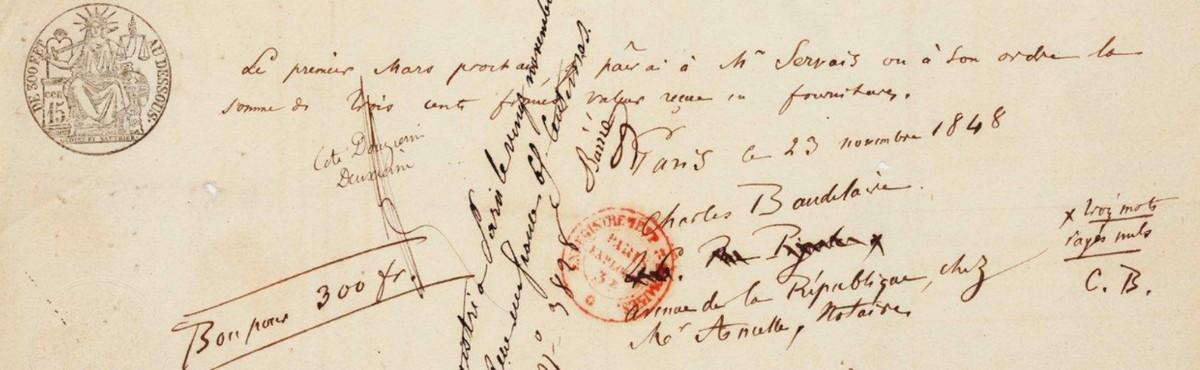 Correspondentie Charles Baudelaire. Vertalingen Vivienne Stringa.