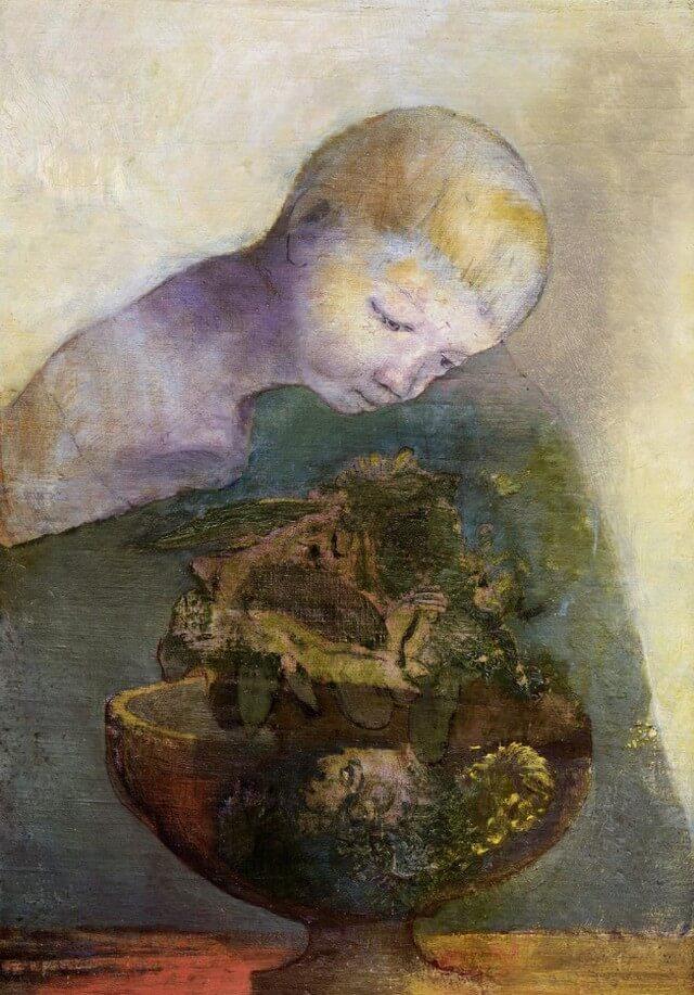 Het geheugen en de zee. La mémoire et la mer. Léo Ferré.  Odilon Redon.Vertaling Vivienne Stringa