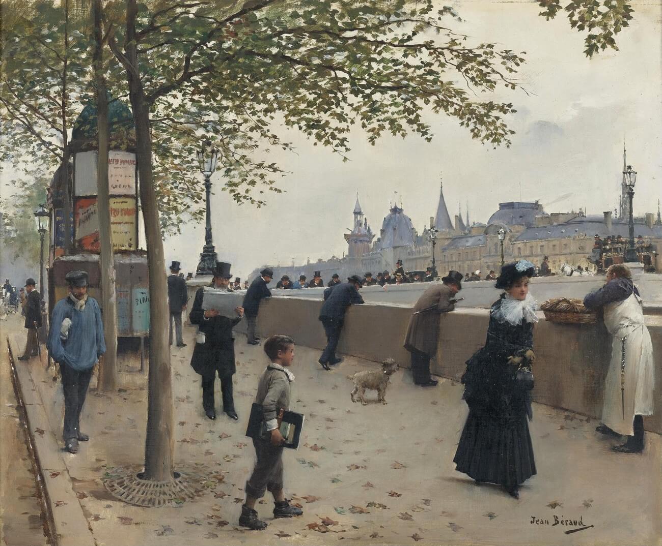 Jean Béraud. Le pont Neuf, Paris.Baudelaire. Brieven aan zijn moeder.Vertalingen Vivienne Stringa