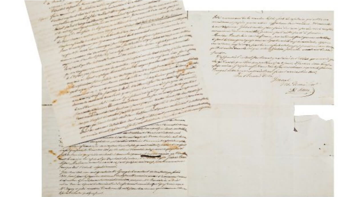 kapitein Saliz schrijft brief aan generaal Aupick. Correspondentie Baudelaire  Vertalingen Vivienne Stringa
