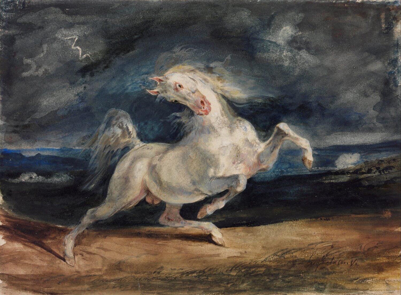 Het geheugen en de zee. La mémoire et la mer. Léo Ferré. Eugène Delacroix, Odilon Redon.Vertaling Vivienne Stringa
