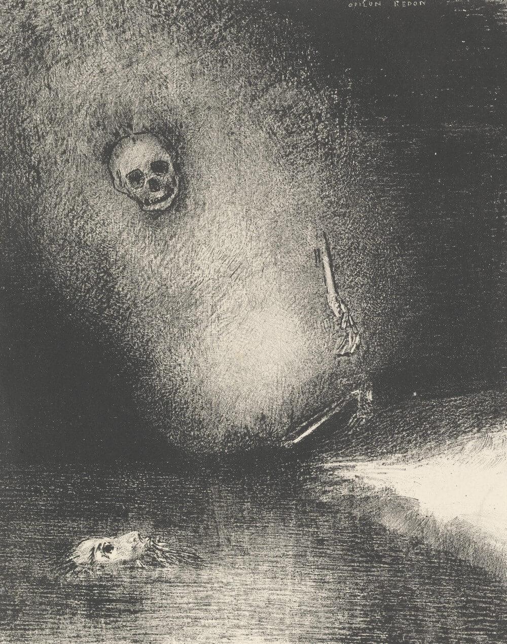 Le rêve s'achève par la mort. Odilon Redon.  Jean-Roger Caussimon. Zing de dood niet. Ne chantez pas la mort. Léo Ferré. Vertalingen Vivienne Stringa