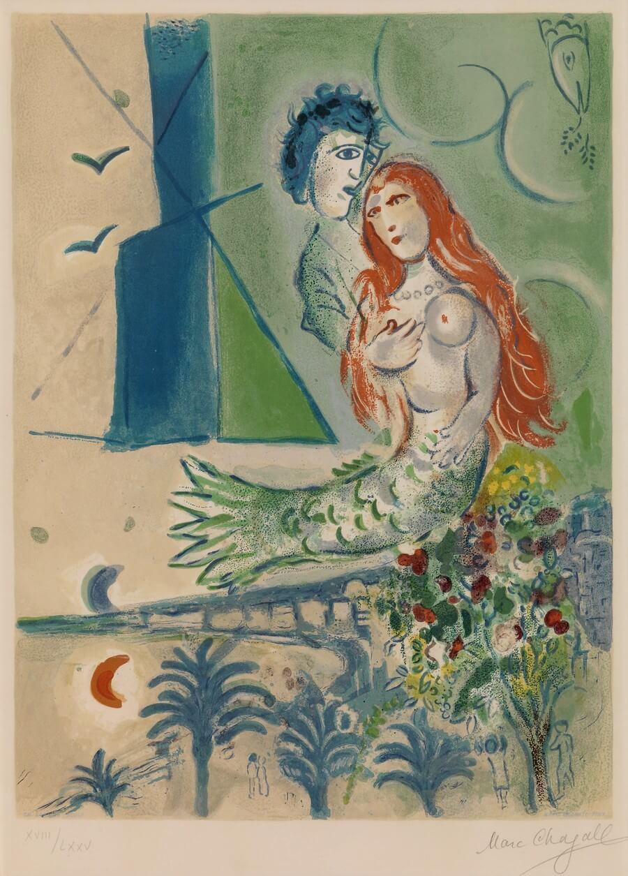 Marc Chagall, 1887 - 1985. Baudelaire. Madame Aupick. Vertalingen Vivienne Stringa