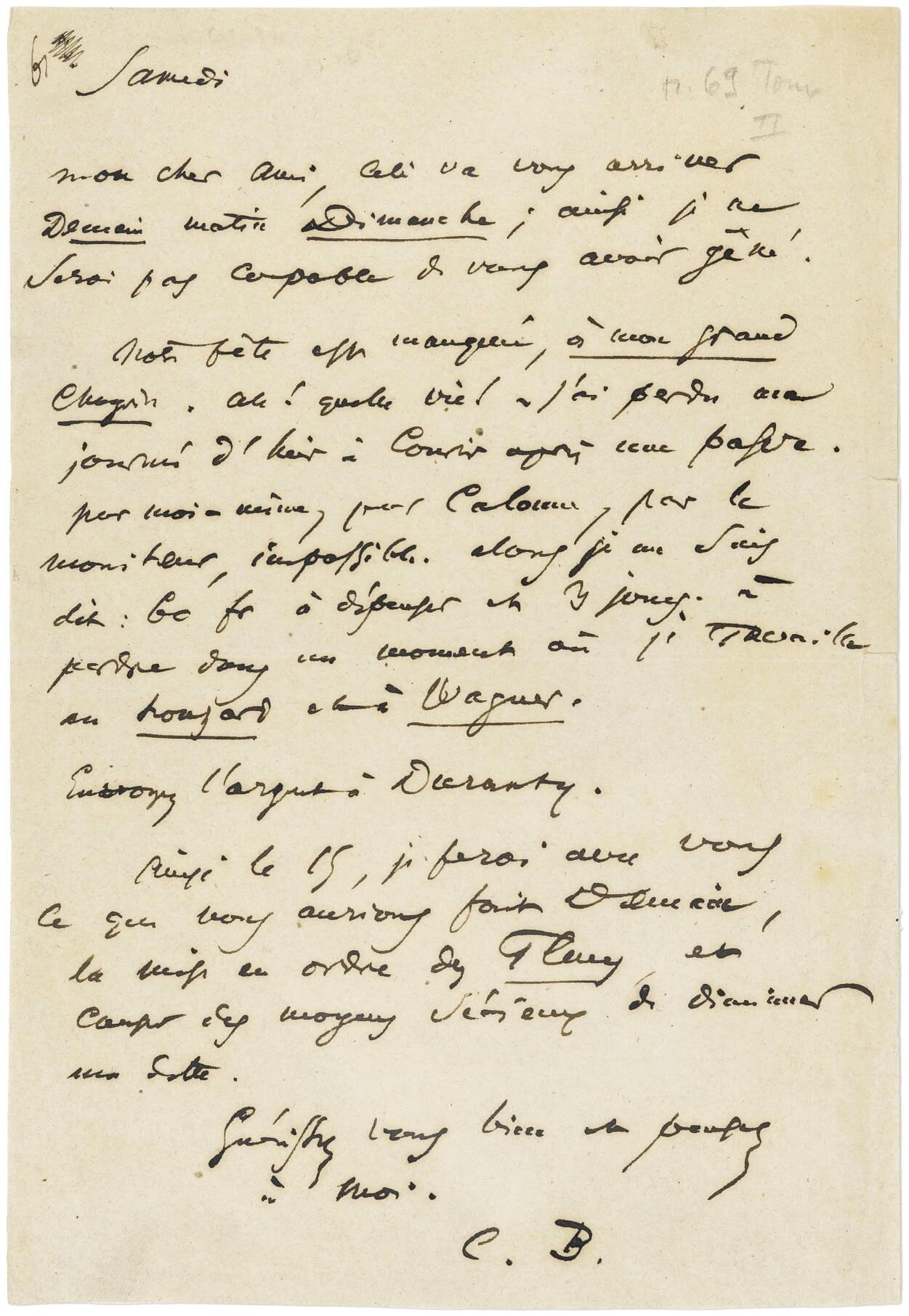 Auguste Poulet-Malassis. Baudelaire. Parijs, 28 juli 1860.  Vertalingen Vivienne Stringa