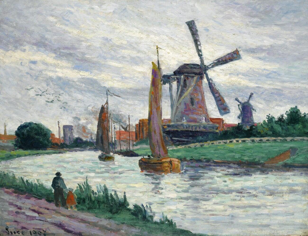 Maximilien Luce. Moulins aux Pays-Bas, 1907. Baudelaire. Brieven aan zijn moeder.Vertalingen Vivienne Stringa