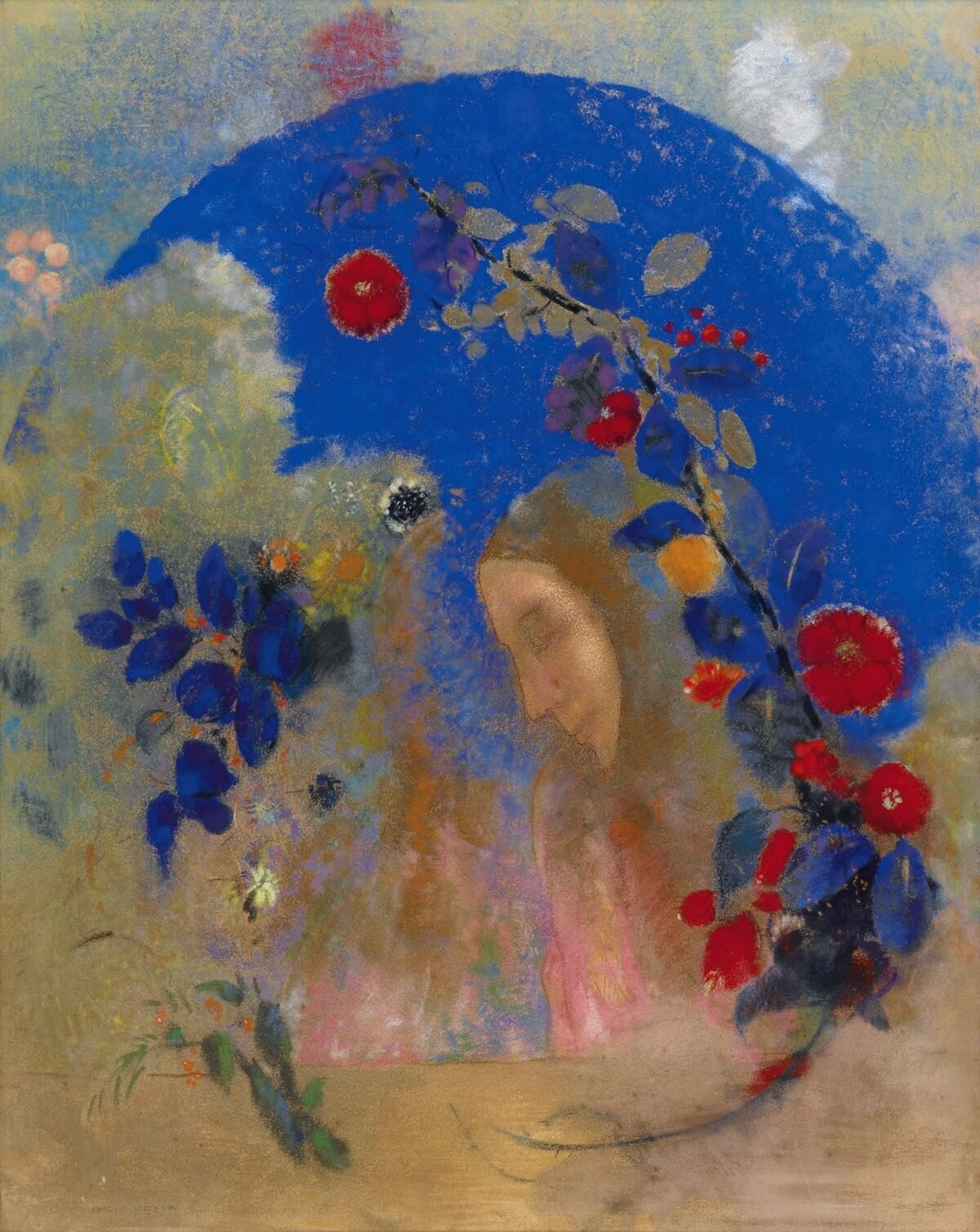 Odilon Redon, 1840-1916. 1905.Elevatie. Élévation.  Charles Baudelaire.  V Vertalingen Vivienne Stringa.