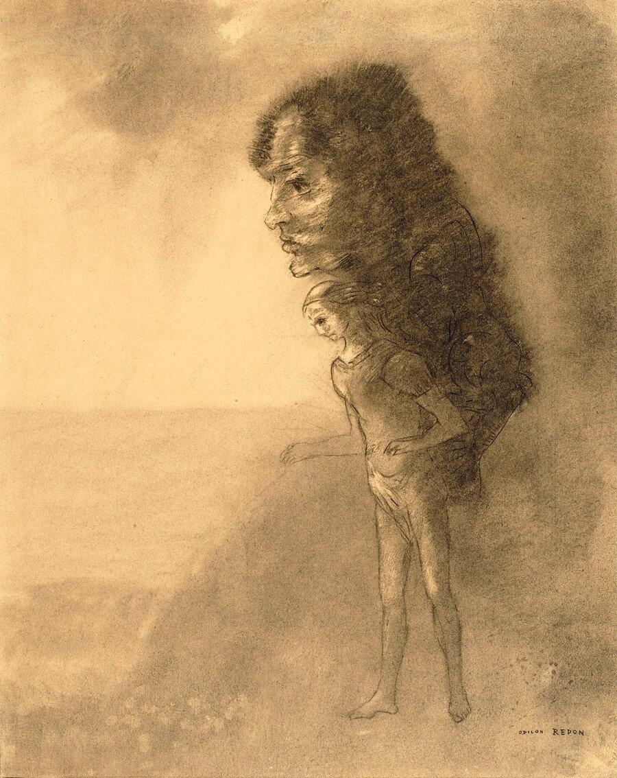 Odilon Redon. La conscience.  Baudelaire. Madame Aupick. Vertalingen Vivienne Stringa