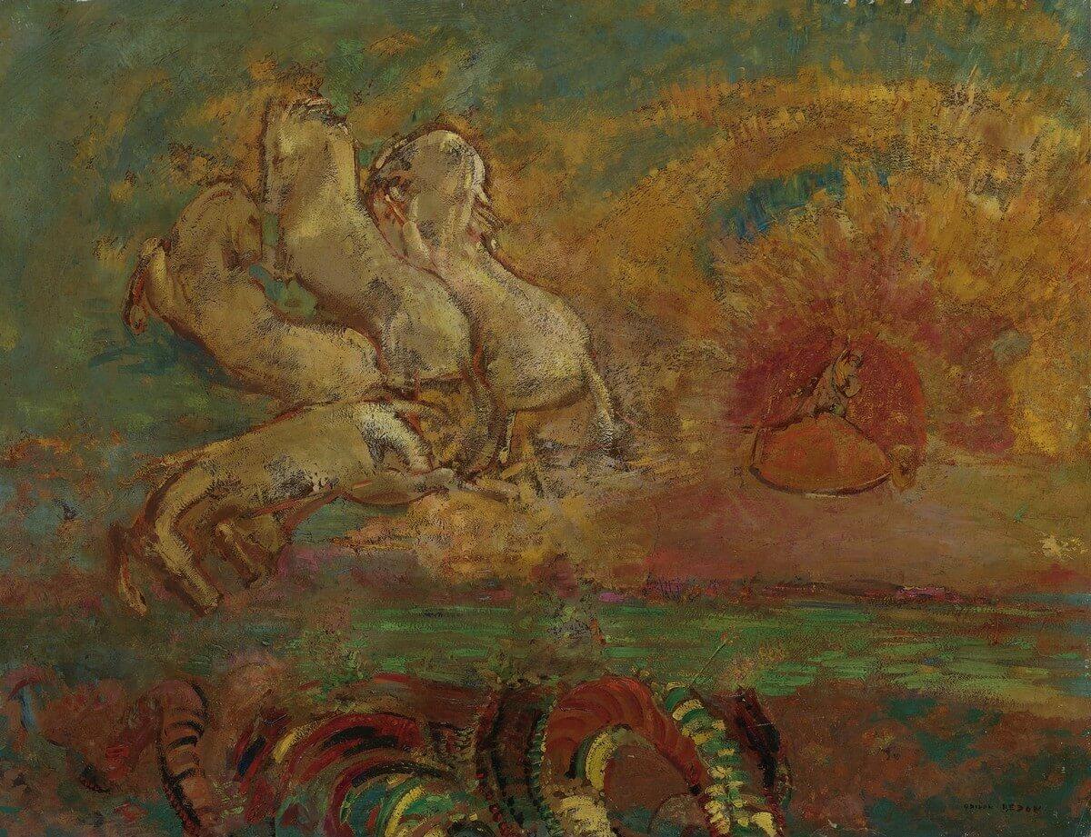 Odilon Redon. 1840-1916. Le char d'Apollon et le dragon. Baudelaire. Madame Aupick. Vertalingen Vivienne Stringa