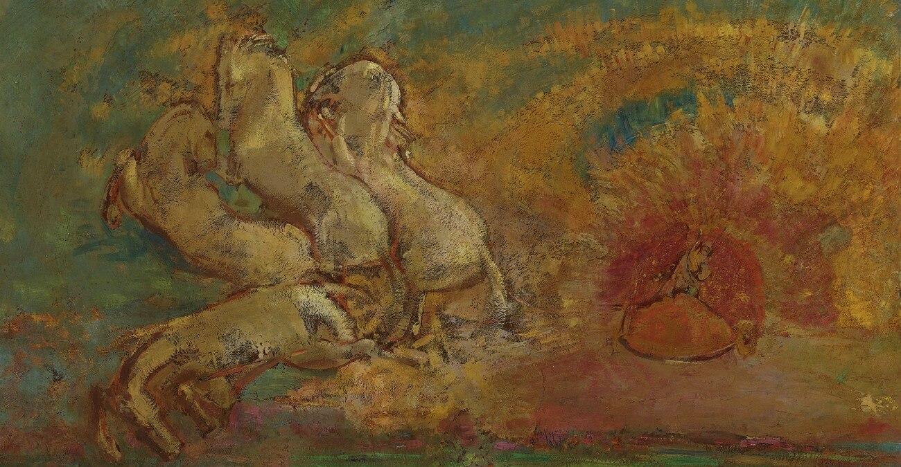 Odilon Redon. 1840-1916. Le char d'Apollon et le dragon. Baudelaire. Brieven aan zijn moeder.Vertalingen Vivienne Stringa