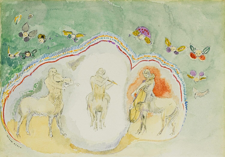 Odilon Redon. De Centauren, Muzikanten / Les Centaures, Musiciens.  Baudelaire. Madame Aupick. Vertalingen Vivienne Stringa