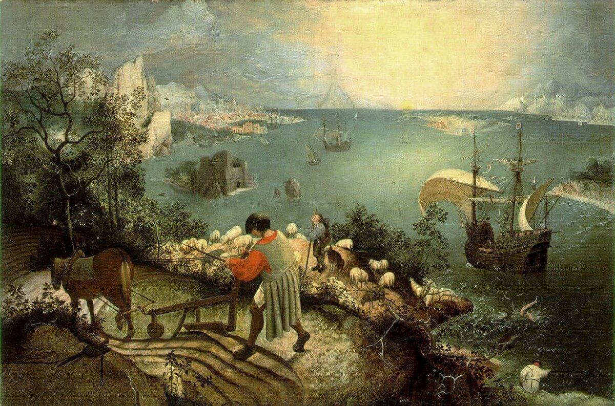 Pieter Brueghel. De val van Icarus. Baudelaire, correspondentie Brussel, België. Aan Madame Aupick, zondagochtend 14 augustus 1864, maandag 22 augustus 1864. Vertaling Charles Baudelaire, Vertalingen Vivienne Stringa