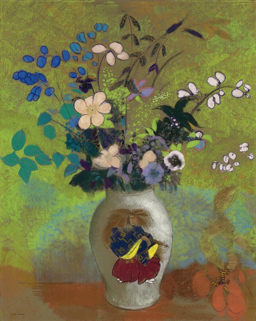 Odilon Redon. Vase au guerrier japonais. Baudelaire. Madame Aupick. Vertalingen Vivienne Stringa
