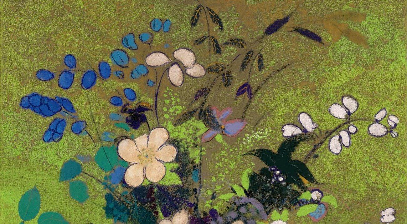 Odilon Redon. 1840-1916. Vase au guerrier japonais.   Baudelaire. Brieven aan zijn moeder.Vertalingen Vivienne Stringa